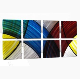 Stained Glass Modern Abstract Metal Wall Art Painting