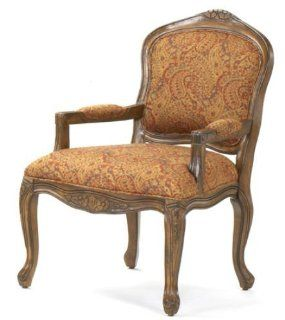 French Provincial Accent Chair / Paisley Fabric