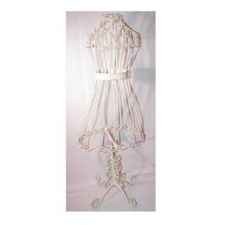 Iron Metal Dress Form Mannequin 29 Off White: Home