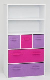 4D Concepts Girls Storage Bookcase, White