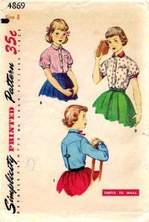 Simplicity 4869 Girls Shirt Mother Daughter Fashion
