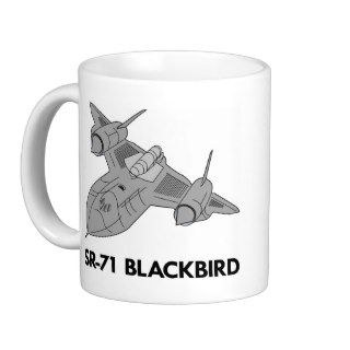 White Sr 71 Blackbird Coffee Mugs
