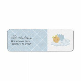 Baby Boy Baptism Custom Return Address Labels