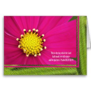 Christian Birthday Card    Psalm 118 verse 24
