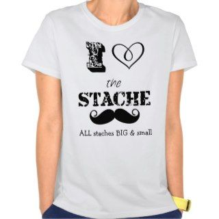 The Stache Mustache Retro Hipster T Shirt