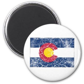 Colorado State Flag Vintage Refrigerator Magnets