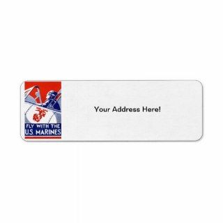 WWII Marine Corps Aviation Return Address Label