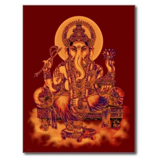 Ganesh   Remover of Obstacles Post Card