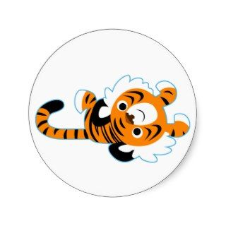 Easy Going Cute Cartoon Tiger Sticker