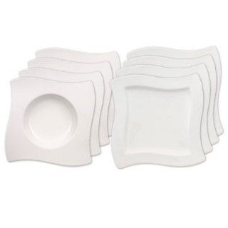 Villeroy & Boch 10 2525 9015 New Wave Dinner Set, 4 Speise  und