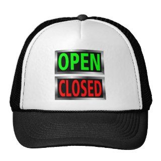 Open Closed Signs Vector Clipart Hat