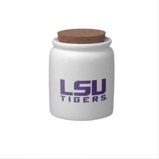 Purple LSU Tigers Logo Candy Dish