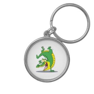 happy alligator crocodile cartoon dancing key chain