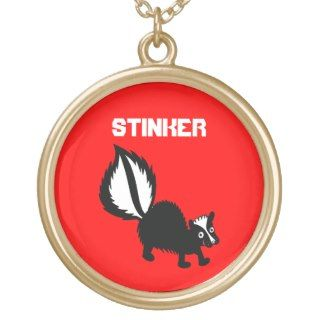 Cute Stinker Skunk Animal Kawaii Cartoon Art Custom Necklace