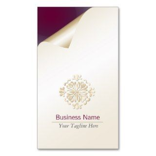Party Planner Business Card Gold Floral Flourish