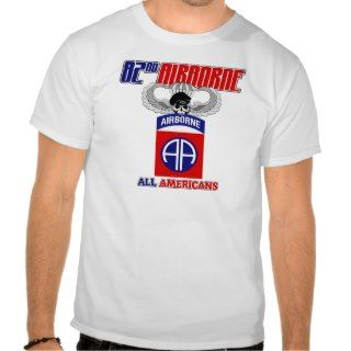 82nd Airborne Jump Wings Tee Shirts