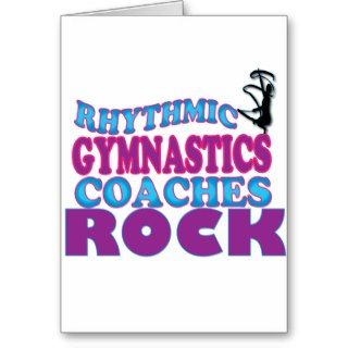 Rhythmic Gymnastics Coaches Gifts Greeting Card