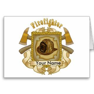 Custom Name Loyal Firefighter Card