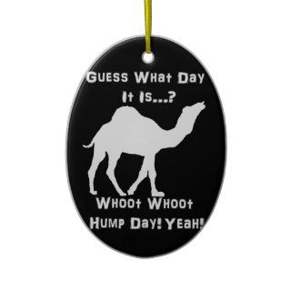 White Hump Day Camel Ornament