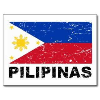 Philippines Flag Vintage Postcards