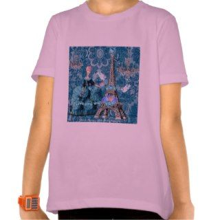 Marie Antoinette ~ Bella Blue Eiffel Tower T Shirts