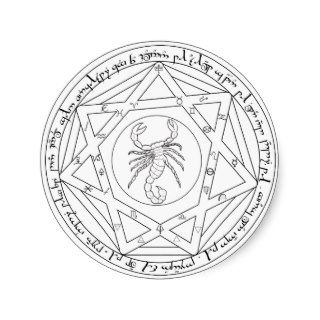 Grand Pentacle Round Sticker