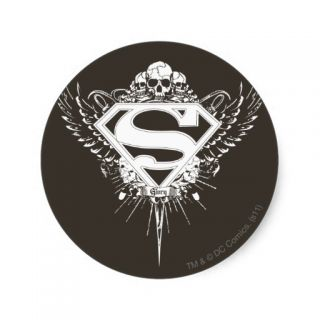 Superman Logo Round Stickers