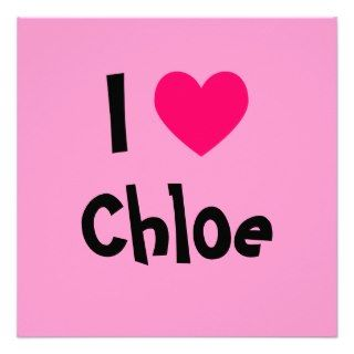 Love Chloe Announcements