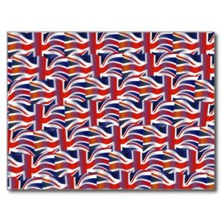 Uk Wavy Flag Wallpaper Post Cards