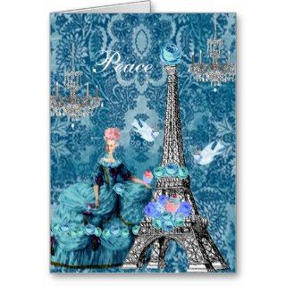 Bella Blue Marie Antoinette   Eiffel Tower Peace Cards