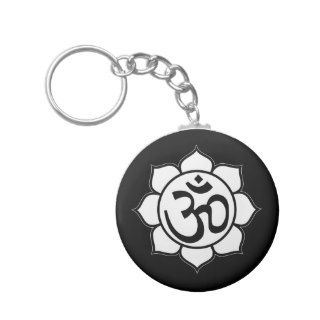 Lotus Flower Aum Symbol Key Chains