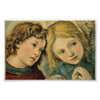 Vintage Angel Children Art Print