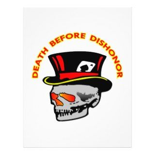 Death Before Dishonor Skull & Tophat Flyers