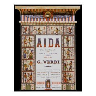 Vintage Music, Egyptian Aida Opera by Verdi Print