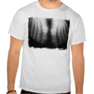 Ray Feet Human Skeleton Bones Black & White T Shirt
