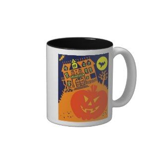 Halloween Crazy Haunted House Mugs