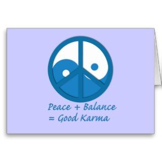 Equation for Good Karma Greeting Card