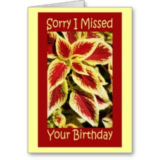Belated Birthday Wishes Greeting Card