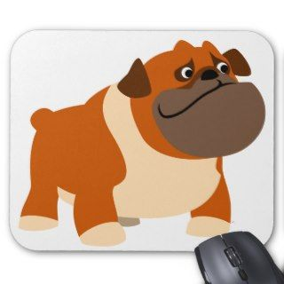Cute English Bulldog Baby Clothing Mouse Pad