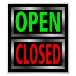 Open Closed Signs Vector Clipart Print