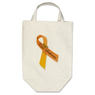 Cure Leukemia Orange Ribbon Organic Grocery Tote Bags