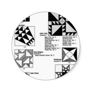 Quilt Patterns Round Sticker