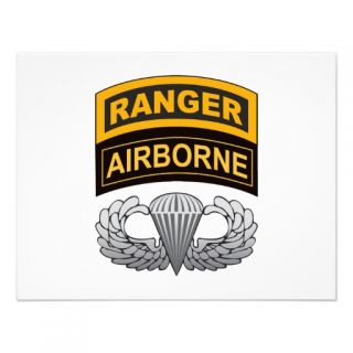 Basic Airborne Wings Ranger/Airborne Tab Personalized Invites