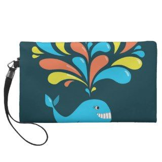 Colorful Splash Happy Cartoon Whale Wristlets
