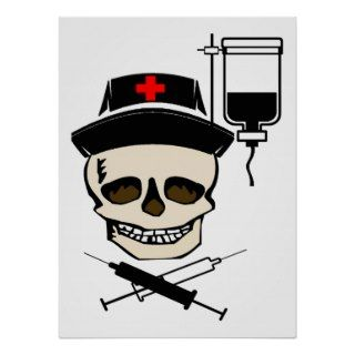 Jolly Roger Pirate NURSE PRINT