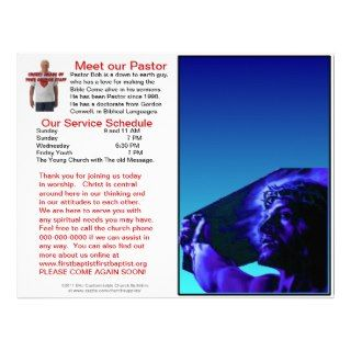 Customizable Weekly Church Bulletin (Inside Blank) Custom Letterhead