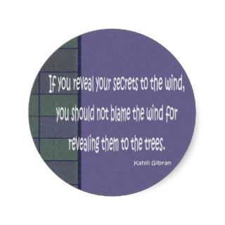 kahlil gibran quote round stickers