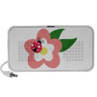 Ladybug on a flower clipart travelling speaker