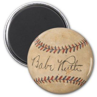 BASEBALL SIGNED BABE RUTH VINTAGE REFRIGERATOR MAGNETS