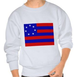 Confederate Flag (Proposal 1861) Pull Over Sweatshirt